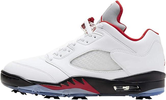Jordan V Low Golf Mens White/Fire Red