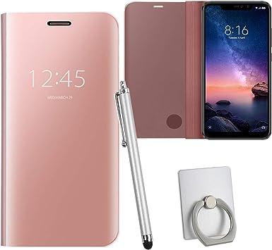 Guran® Mirror Efecto Espejo Funda para Xiaomi Redmi Note 6 Pro ...