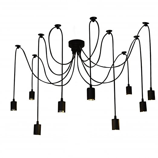 Lixada Pendant Light 6 Light Hanging Lamp Chandelier Ceiling Light 9