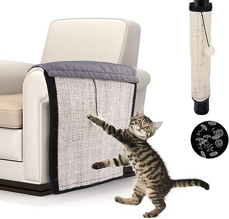 Yanhonin - Alfombra rascador para Gatos – Protección de sofá para Suelo de Pared – Protector de Gato – Adecuado para Gatos: Amazon.es: Productos para mascotas