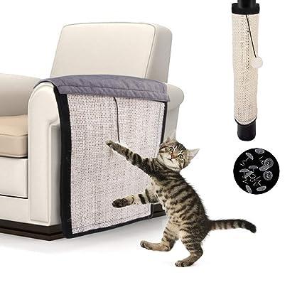 Yanhonin - Alfombra rascador para Gatos - Protección de sofá ...