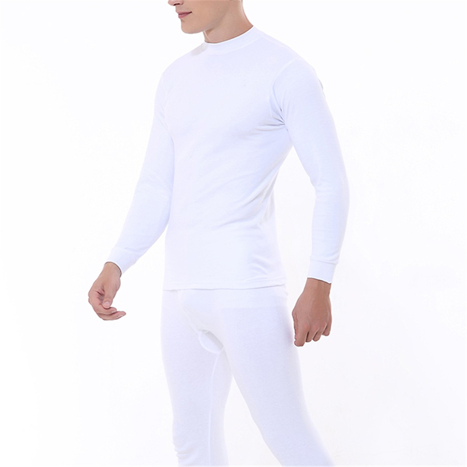 Dapengzhu Men's Women's Thermal Underwear Sets Pure Cotton Male And le Soft Thin Warm Long In Autumn And Winter WHITE M563M565 L