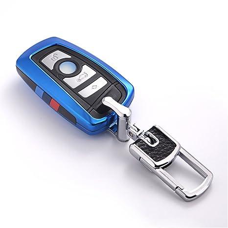 Amazon Com Vanzavanzu Compatible Bmw Key Fob Cover Smart Remote Car