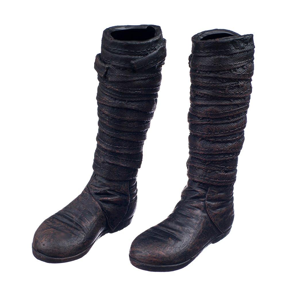 1/6 Chaussures Femelles De Grande Échelle 27cm 27sh-f005t Longues Bottes Brunes Par Obitsu 8GaBwZ