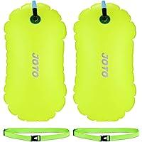 JOTO [2 Pack] Swim Buoy Float, Swimming Bubble Safety Float with Adjustable Waist Belt for Open Water Swimming, Safe Swim Training, Triathletes, Kayaking, Snorkeling
