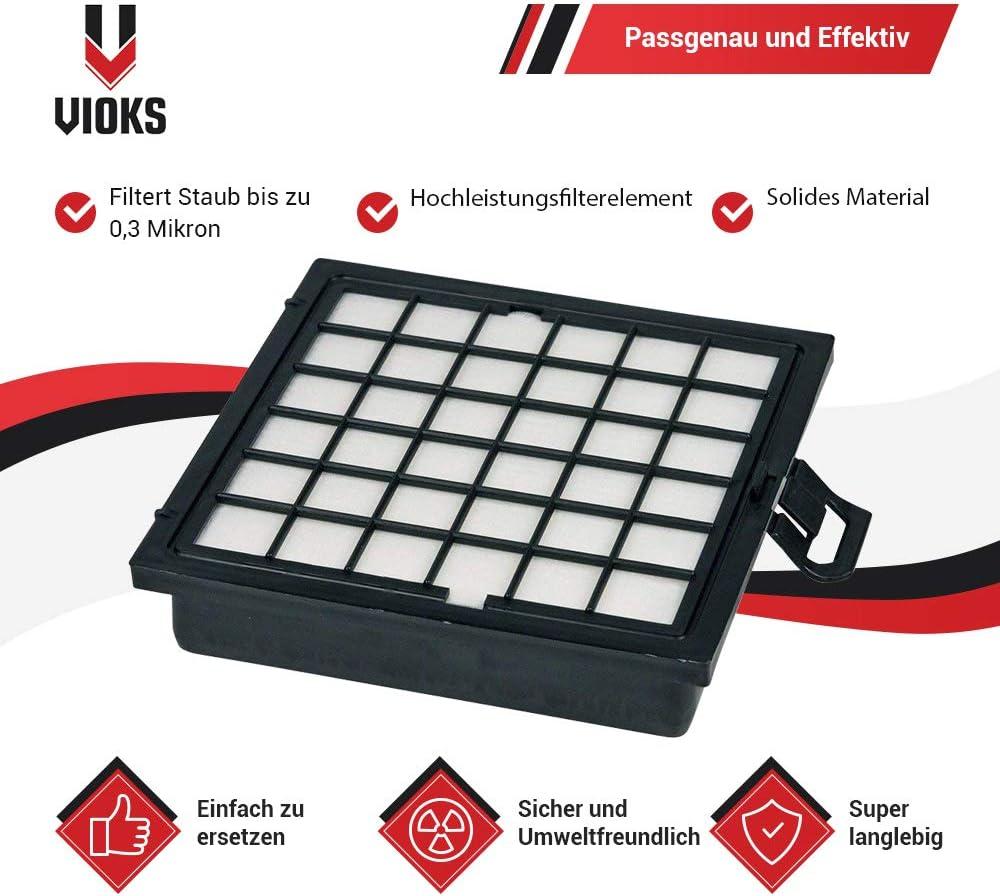 VS08G aspirateur remplacement pour 00578732 BBZ Hepa filtre cassette lamelle filtre /à odeurs pour Siemens Bosch VS08