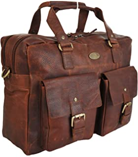 f8f0c0994f Rowallan Large Leather Two Section Work Travel Overnight Bag 32-1209 RRP  £149.99 Our Price…