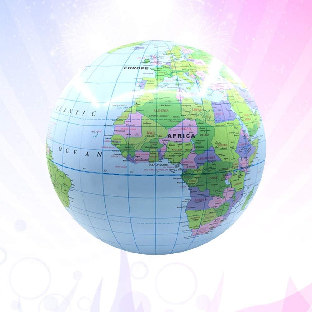 Amosfun Motif de la Carte Ballon de Plage Gonflable Piscine Balle de Plage Jouets de Plage