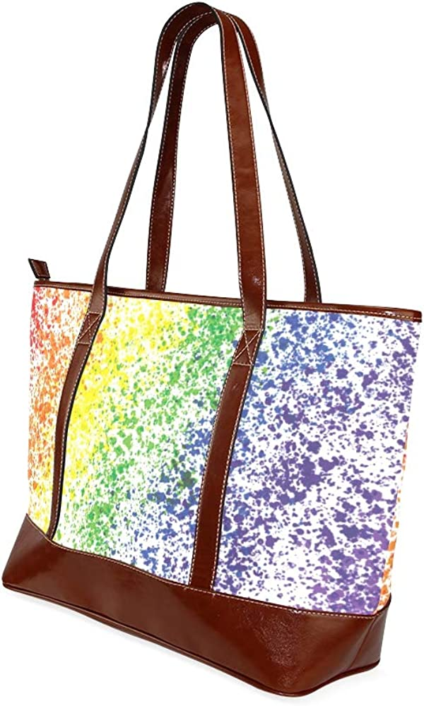 Tote Bags Rainbow Painted Travel Totes Bag Fashion Handbags Shopping Zippered Tote For Women Waterproof Handbag
