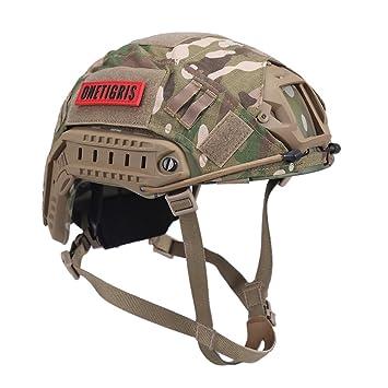 onetigris PJ Táctica rápido casco con extraíble revestimiento de casco para airsoft paintball, MC Camouflage