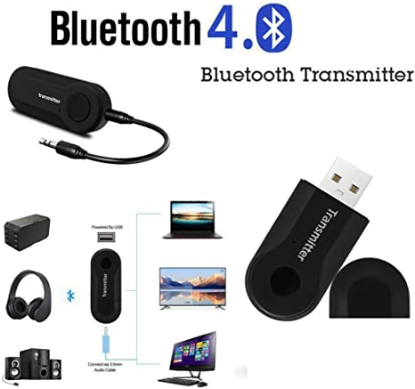TAOtTAO Transmisor Bluetooth Inalámbrico Audio estéreo Adaptador ...