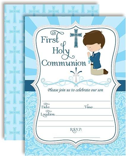 ** 8 X 1ST BIRTHDAY PARTY INVITATIONS BOYS BLUE INVITES ENVELOPES  CELEBRATION