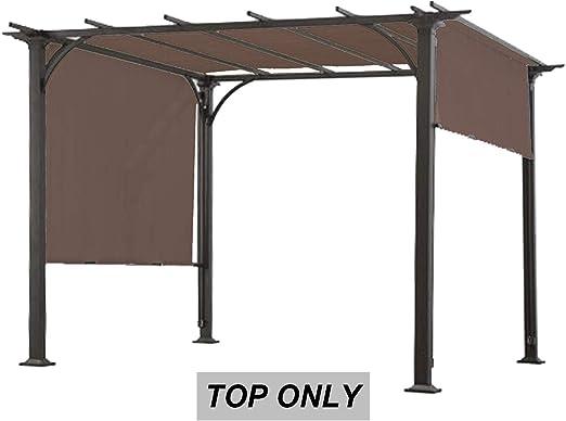 abccanopy de repuesto toldo Roof Top de l-pg080pst-f1 pérgola (marrón): Amazon.es: Jardín
