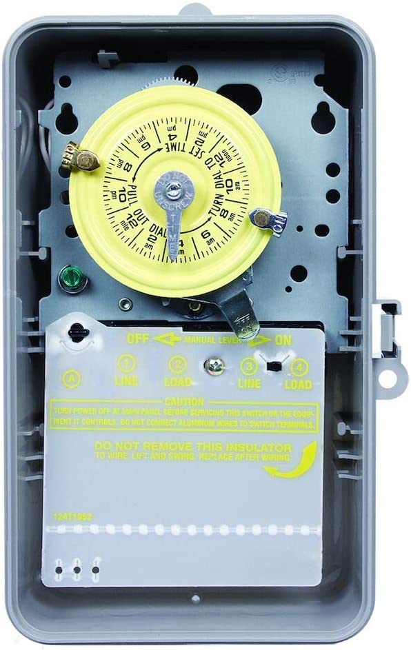 Intermatic Inc Intermatic T104P DPST Time Clock, 24 hour, 208V to 277V, Grey