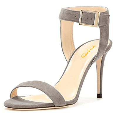 d9daa0300a XYD Women Strappy Ankle Strap Sandal Pumps Open Toe Stiletto High Heel  Slingback Prom Party Dress