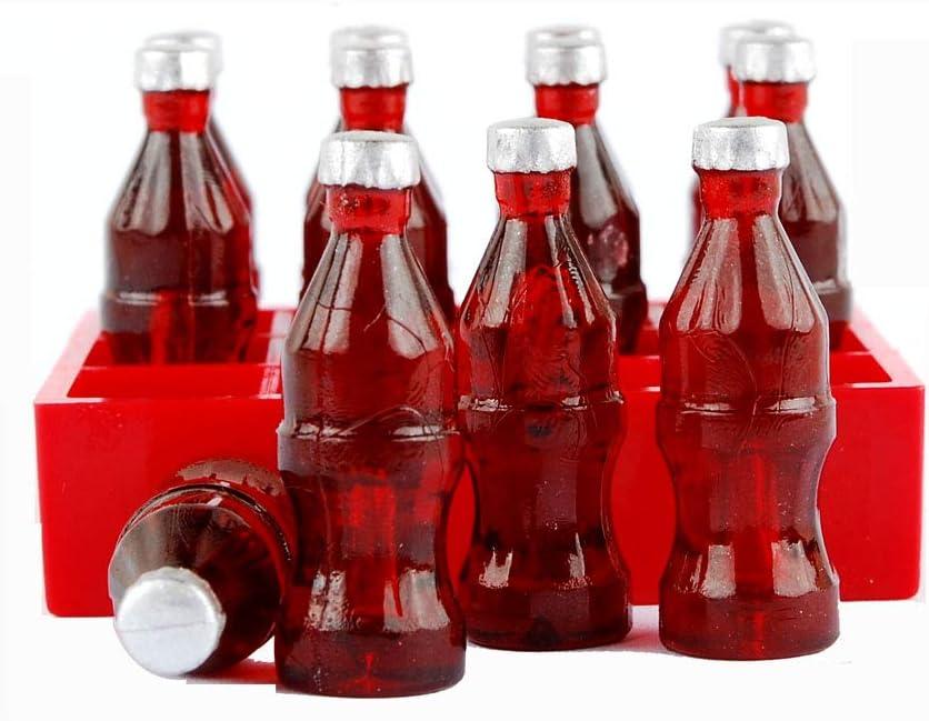 NWFashion 12PCS Cola Soda Bottle+1 Trunk Miniature Dollhouse Accessorise For Christmas