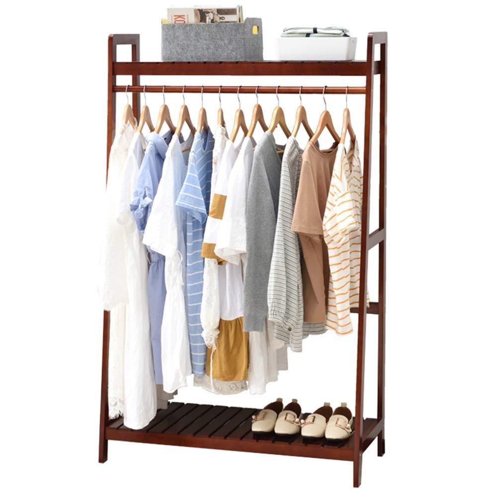 Amazon.com: COAT RACK ZHIRONG 2 in 1 Solid Wood Hangers ...