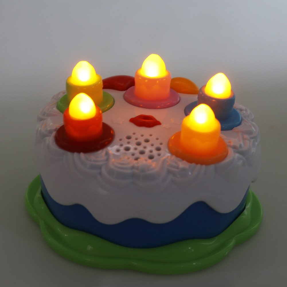Gift Toys for 1 2 3 4 5 Years Old Boys and Girls Amy/&Benton Kids Birthday Cake Toy for Baby /& Toddlers with Counting Candles /& Music