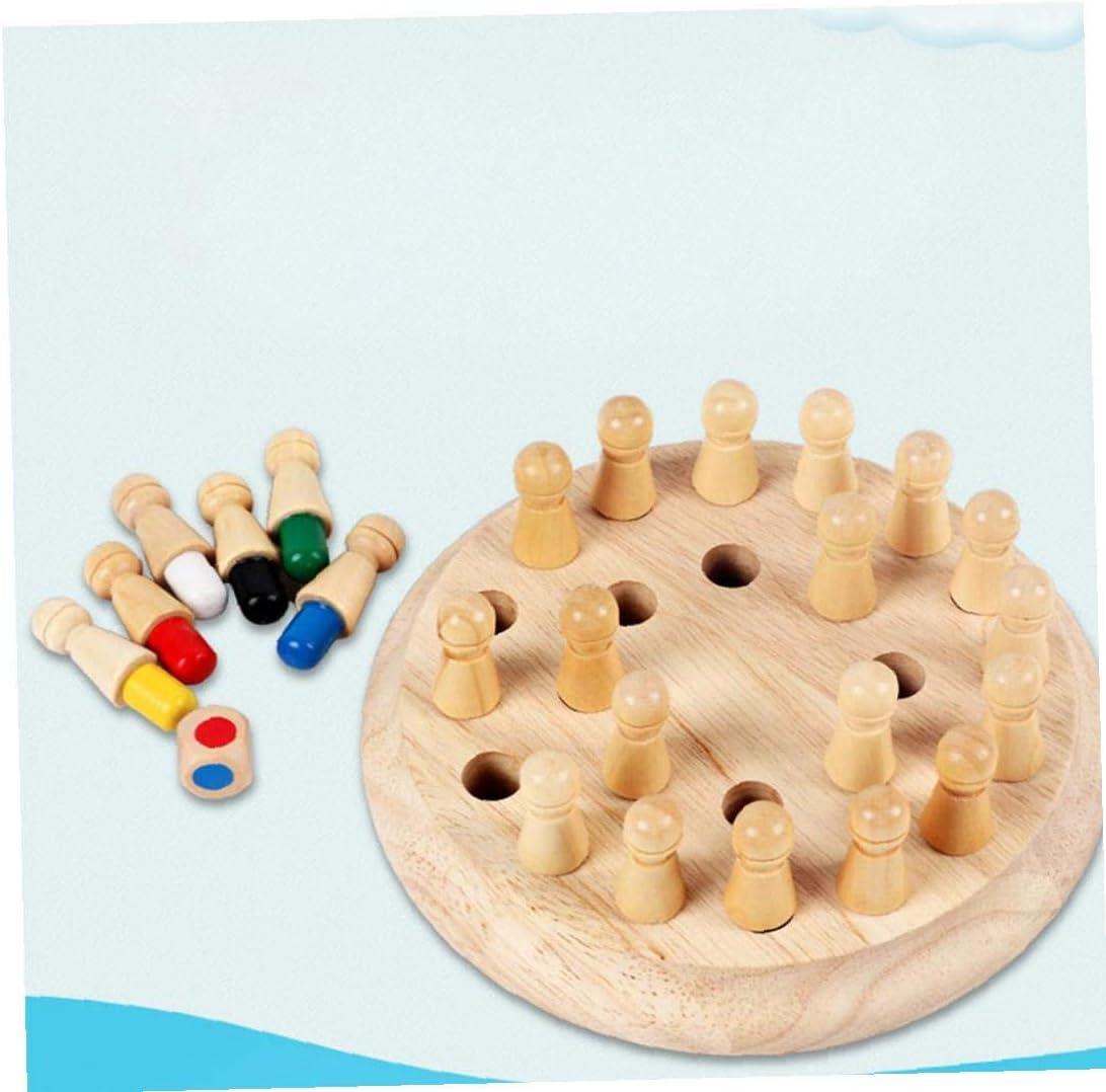ruiting Holz-Memory Match Schach Spielzeug klassischen Tischbrettspiel Familie Karte Toy Ideal f/ür Kinder Educational Early Learning Spielzeug
