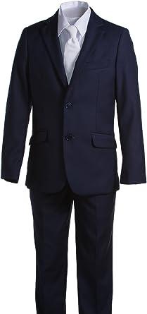 Tuxgear Boys Slim Fit Navy Blue Communion Suit with Suspenders /& Paisley Tie
