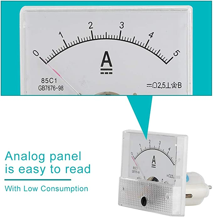 Topiky Mini Current Analog Amperemeter Voltmeter Elektronik