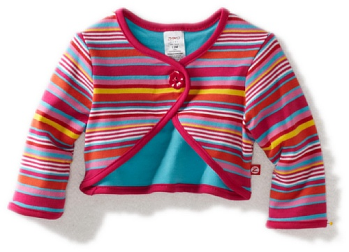 Zutano Baby Girls' Multi Stripe Shrug