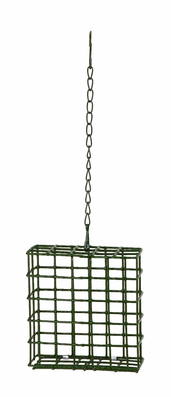 Panacea 83020 Basic Suet Feeder Basket with Hanging Bird Feeding Station, Green