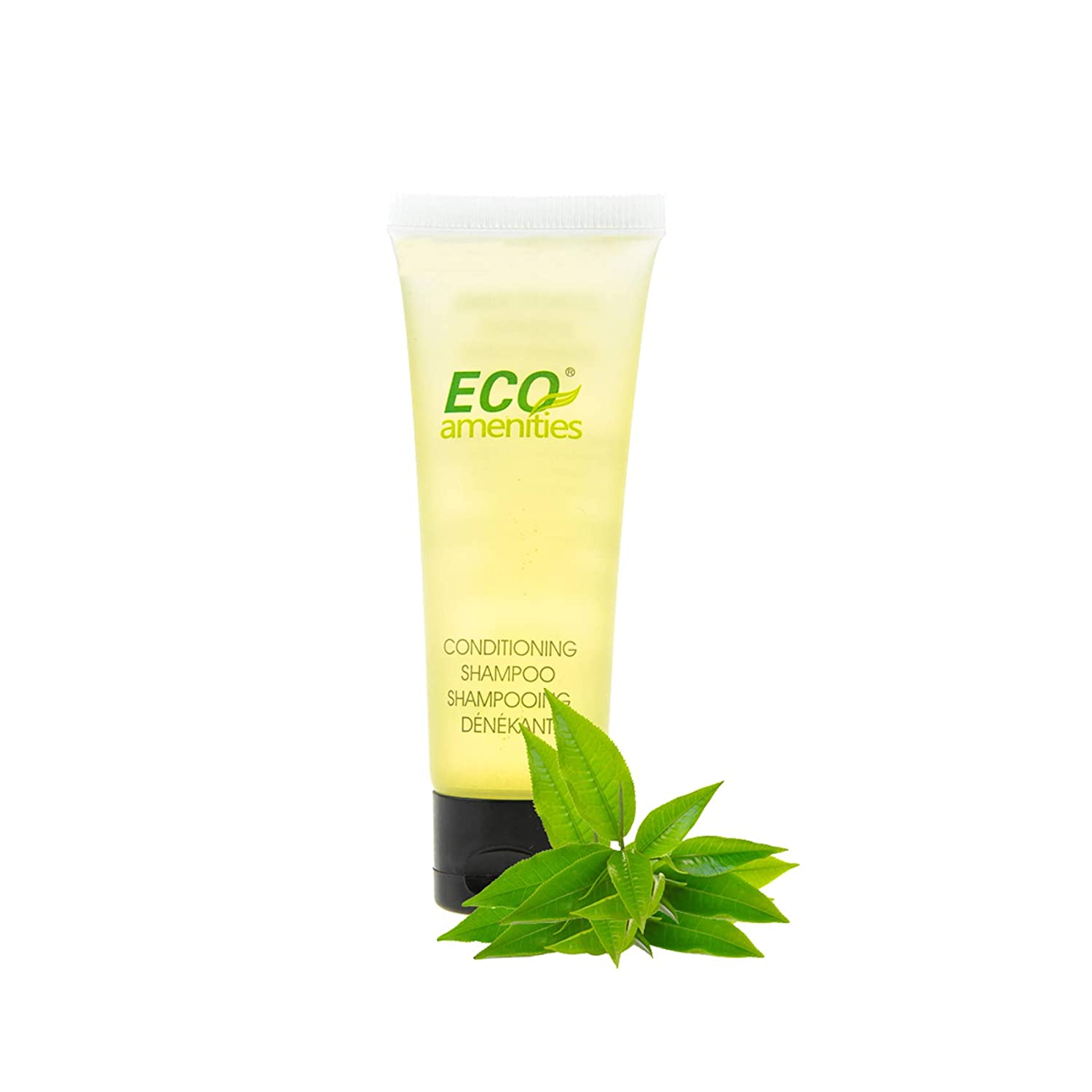 ECO AMENITIES Travel size 1.1oz hotel Conditioning Shampoo in bulk, Clear, 200 Count
