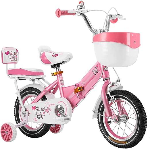 YHDP Bicicleta para Niños,2-3-6-7 Años con Rueda De ...