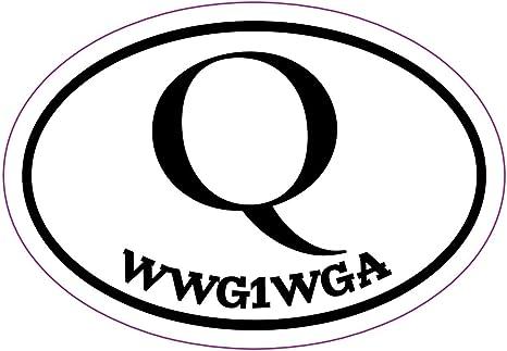 WickedGoodz Q Anon Decal WWG1WGA Bumper Sticker Perfect