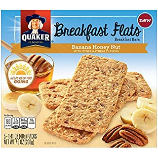 QUAKER Breakfast Flats, Banana Honey Nut, 7 Ounce