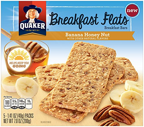 QUAKER Breakfast Flats, Banana Honey Nut, 7 Ounce Nutritional Food Bar Yogurt Honey