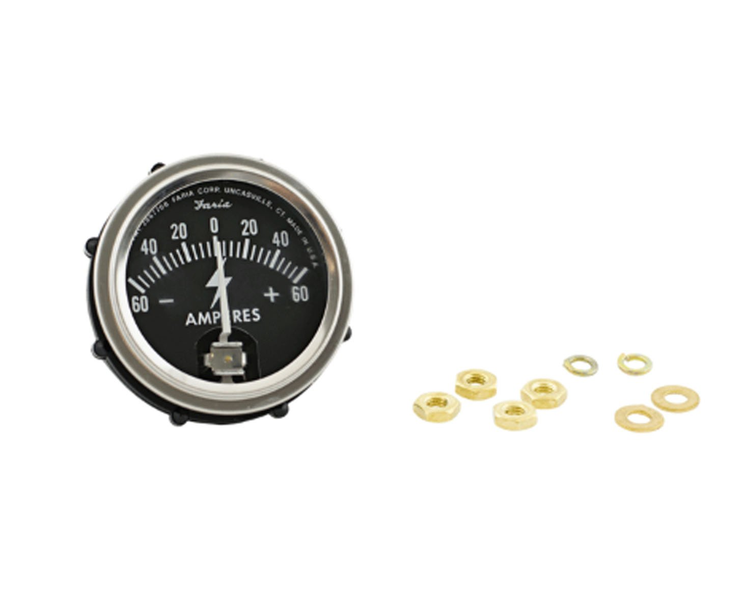 RTP Tractor Ammeter 60-60 Style with Chrome Ring