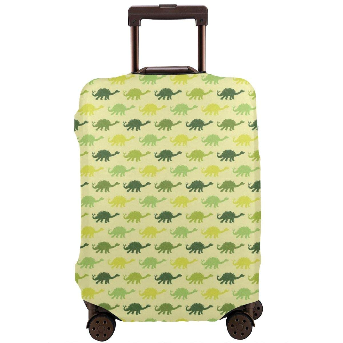 Cute Dinosaur Travel Luggage Cover Spandex Washable Suitcase Protective Cover Baggage Protector Fit 18-32 inch Suitcase