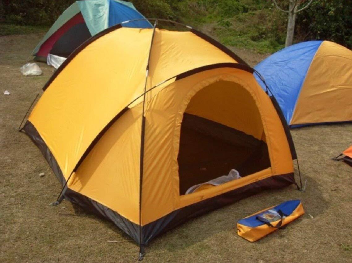JIE Guo Outdoor Produkte Outdoor Geeignet für 2 Personen Verwenden Single-Layer-Zelte, Paar Strand Camping Zelte, Glasfaser Fibre Rods Durable, Portable Zelte