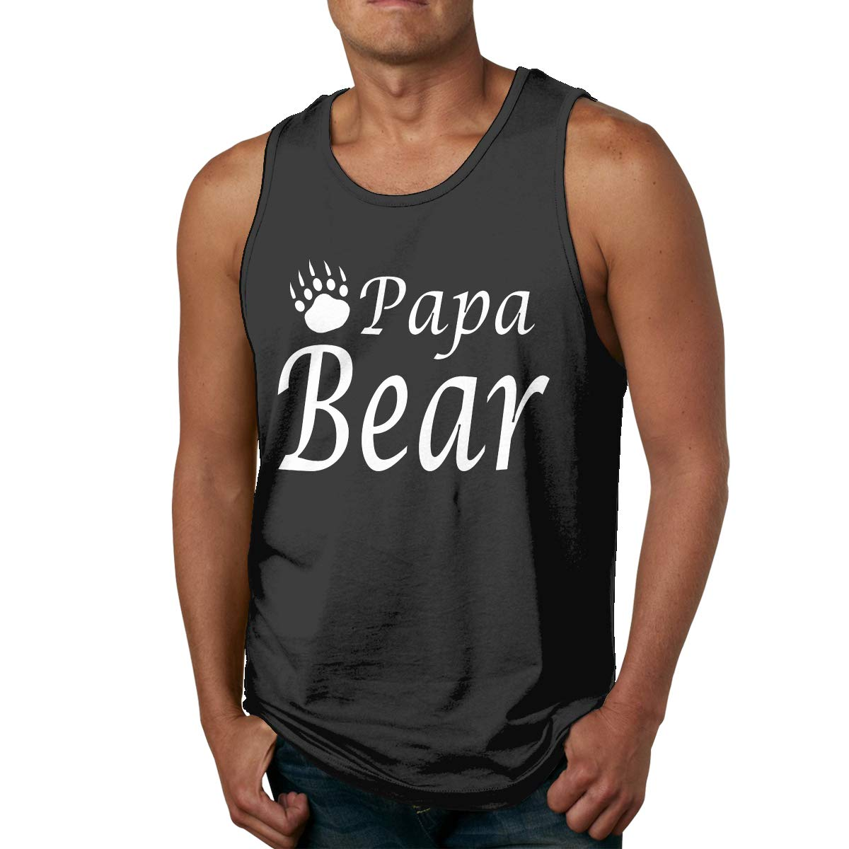 Papa Bear With Bear Claw Leisure Tank Top Shirt