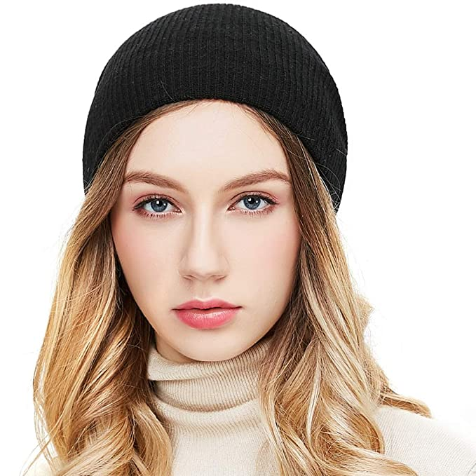 e90b2ed9c35 RIONA Women s 100% Australian Merino Wool Knit Beanie Hat Warm Skull Caps  Headwear