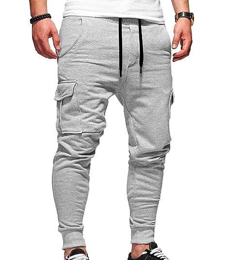 Oneforus Pantalones de chándal para Hombre con Cintura elástica ...