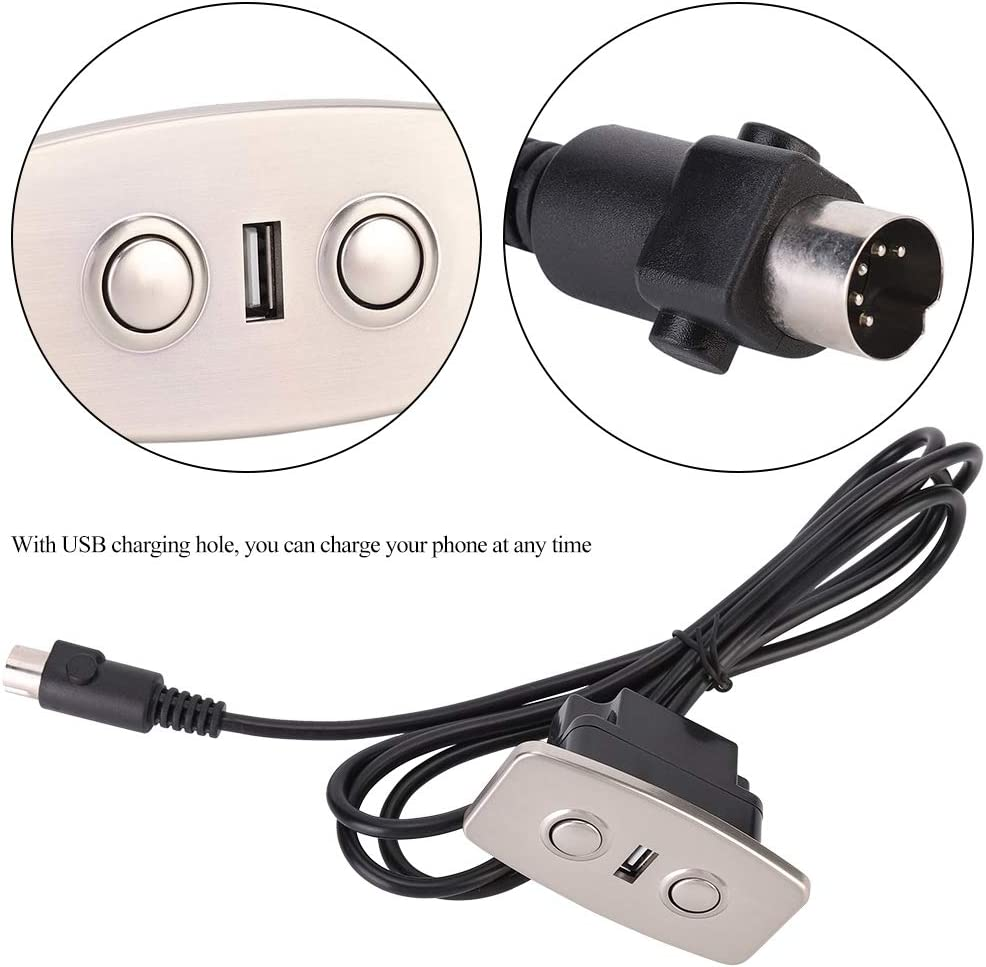 Fdit Electric Hand Switch with Dual USB Controller Recliner Chair Sofa Lifting 2 Button