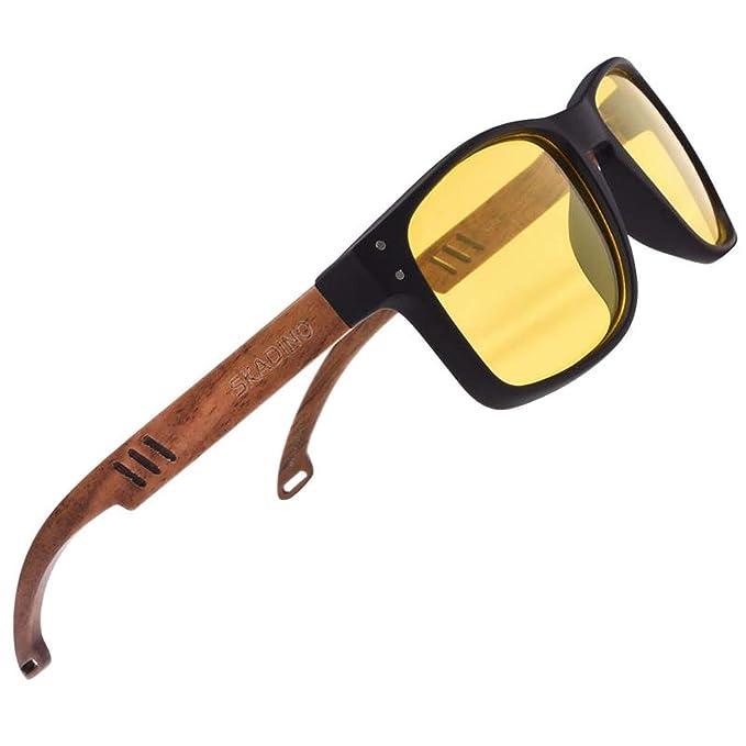Amazon.com: SKADINO - Gafas de sol de bambú con lentes ...