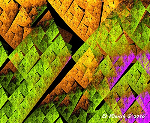 Square Revolution - Abstract art by Ed Warick Fine Art