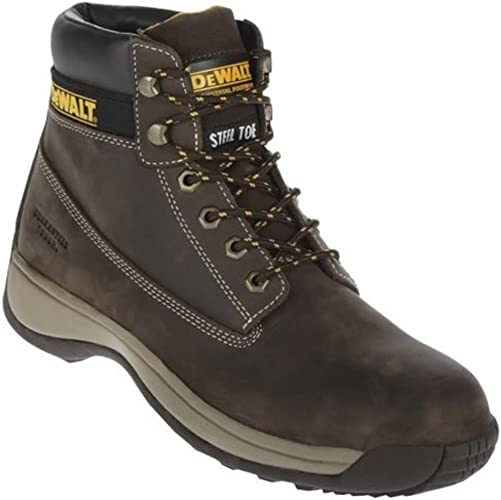 """DeWalt Hancock wheat nubuck leather 6/"""" lace up SBP safety boot with midsole"""