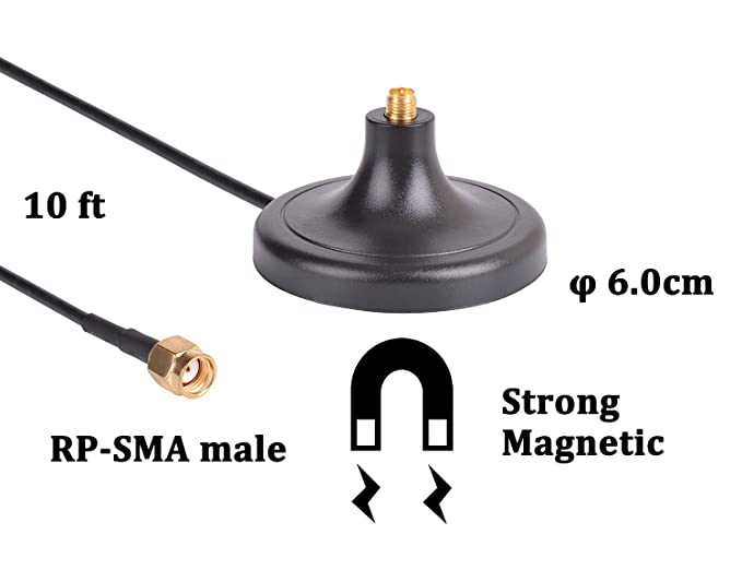 3 Dual Band 6dBi RP-SMA High Gain Antenna for Router WET54G WET11 WMP54G