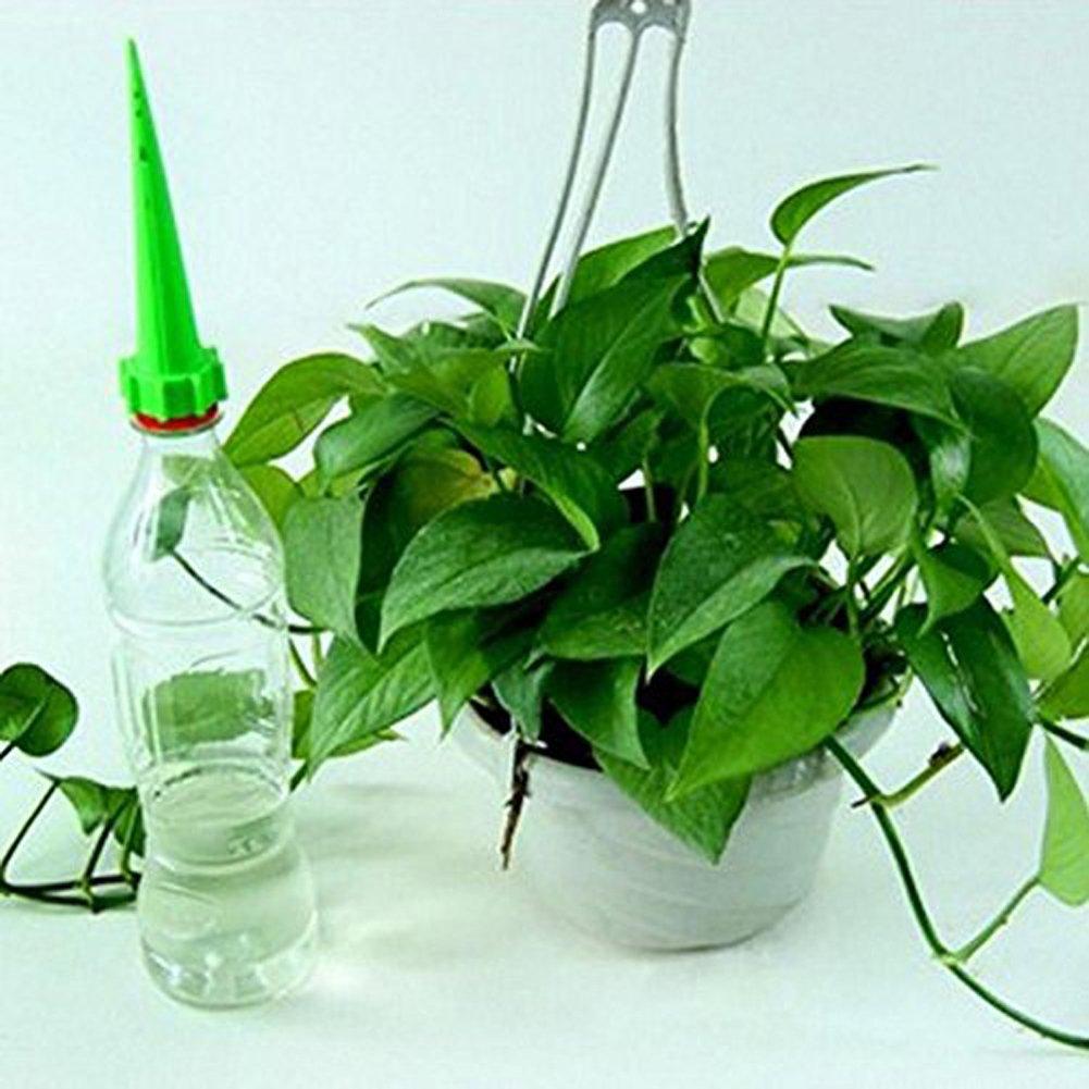 Prettygood7 12 Piezas de riego de Botellas de Plantas para Jardín, Cono de Flores, riego automático y autorriego para Plantas: Amazon.es: Jardín