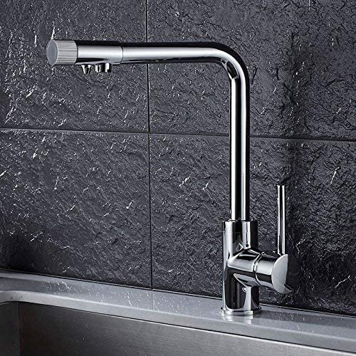 CHENBIN-BB 家庭の蛇口、すべての銅キッチン浄水器、ストレート飲酒タップ、洗濯盆地、シンク、ホットとコールド三蛇口、電気銀メッキ