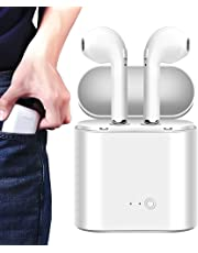 Upgraded Bluetooth 5.0 Wireless Earbuds, Bluetooth Headphones with 35 Hour Playtime Deep Bass HiFi 3D Stereo Sound, Built-in Mic Earphones with Portable Charging Case for Smartphones and Laptops - H11