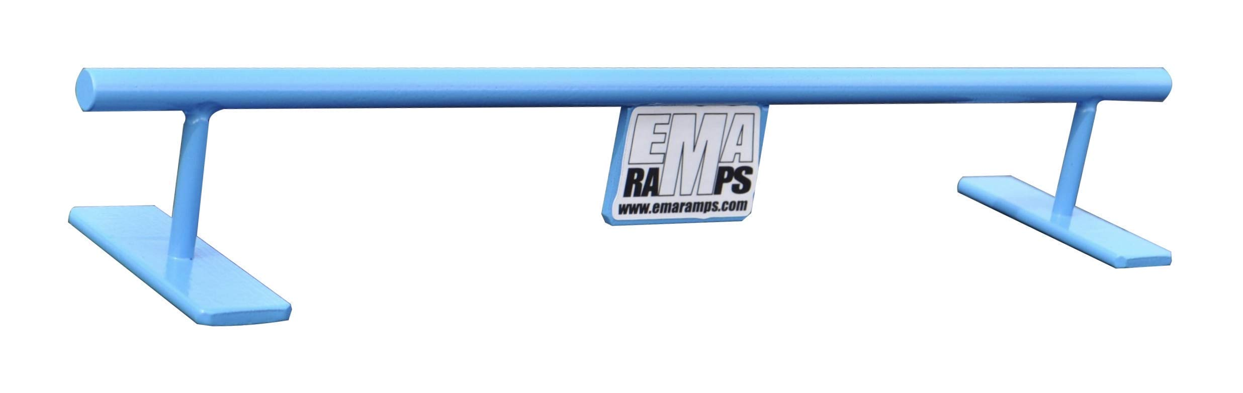 EMA Ramps Fingerboard Accessory Rail Made from Steel to be Used with Fingerboard Decks Great for Fingerboard Parks 1 1/2'' High Round Rail