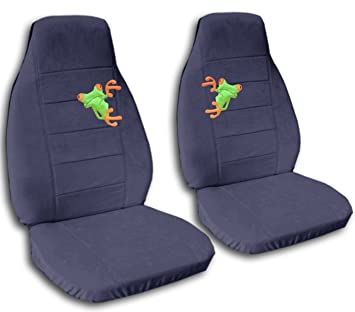 Peachy Amazon Com 2 Blue Grey Frog Seat Covers For A 2007 To 2012 Machost Co Dining Chair Design Ideas Machostcouk
