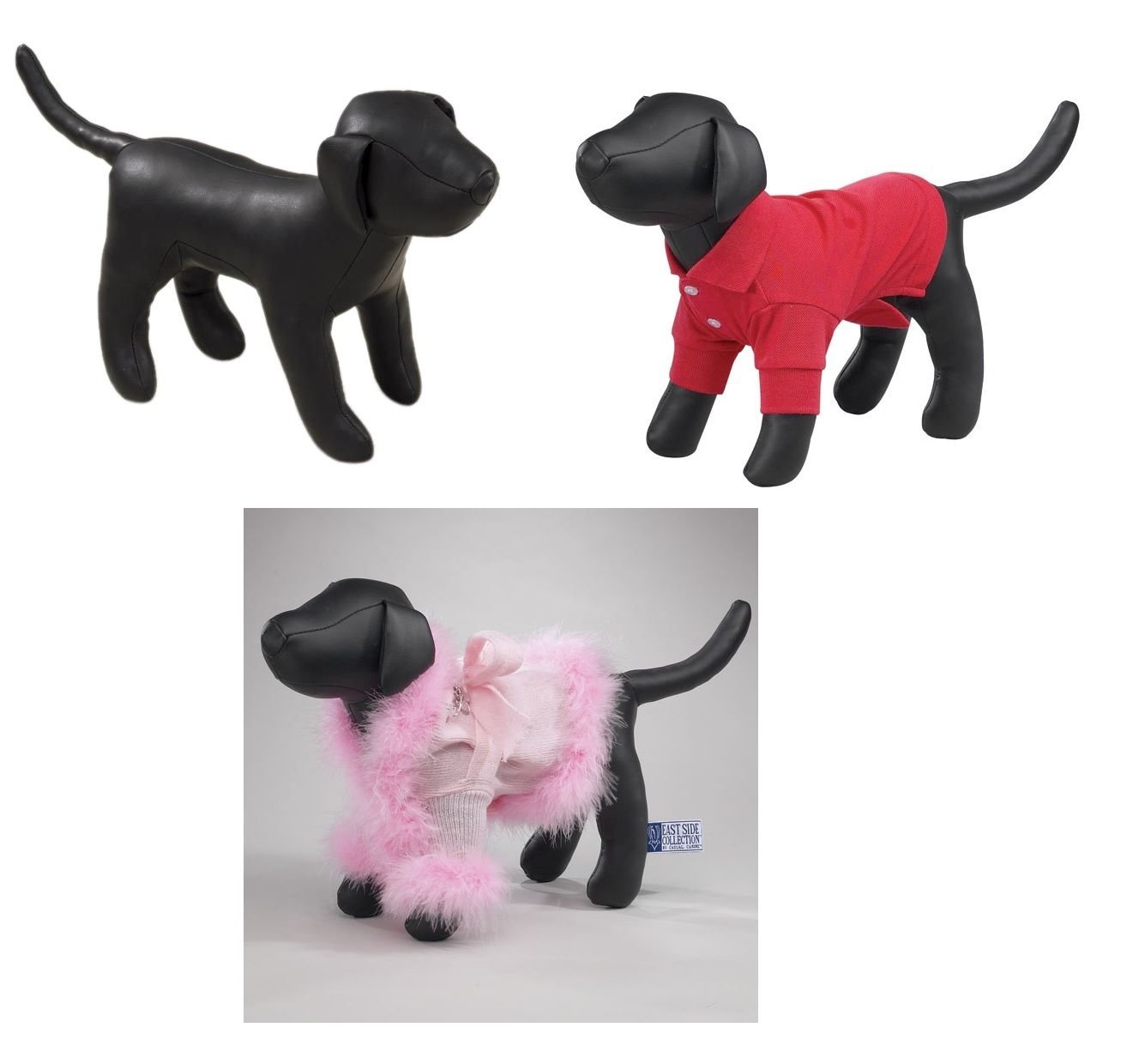 East Side Collection Dog Mannequins Cute Standing Models to Display K-9 Apparel Choose Your Size !(Full Set - All 3 Sizes !)