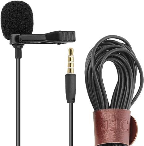 JJC - Micrófono de solapa para smartphone (con clip y micrófono ...